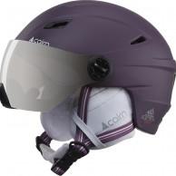 Cairn Electron, ski helmet with visor, mat plum