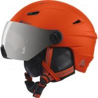 Cairn Electron, ski helmet with visor, mat scarlet