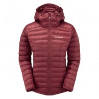Montane Womens Featherlite Down Jacket, tibetan red