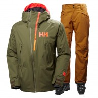 Helly Hansen Nordal/Sogn Cargo ski set, men, green/brown
