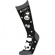 Cairn Spirit ski socks, 2-pack, kids, black panda