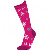 Cairn Spirit ski socks, 2-pack, kids, fuchsia snow