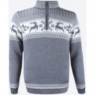 Kama Arthur Merino Sweater, men, grey