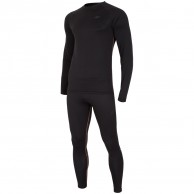 4F Thermodry ski underwear, set, mens, deep black
