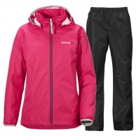 Didriksons Vivid rain suit, junior, warm ceris/black