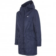 4F Melanie long winter jacket, women, navy