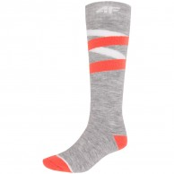 4F Cheap Ski Socks, women, cold light grey