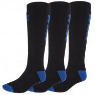 4F 3 pair Cheap Ski Socks, men, dark blue