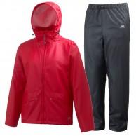Helly Hansen Voss rain suit, mens, red