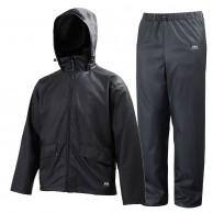 Helly Hansen Voss rain suit, mens, black