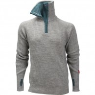 Ulvang Rav sweater w/zip, mens, grey melange