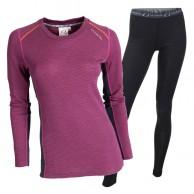 Ulvang Rav 100% underwear set, women, beetroot