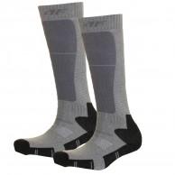 4F 2 pair Cheap Ski Socks, kids, dark grey