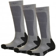 4F 3 pair Cheap Ski Socks, kids, dark grey
