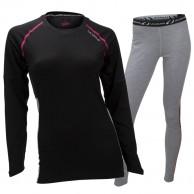 Ulvang Training skiunderwear set, women, black/grey
