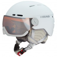 HEAD Queen ski visor helmet, white