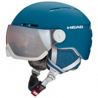 HEAD Queen ski visor helmet, petrol
