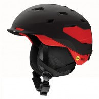 Smith Quantum MIPS ski helmet, black/red
