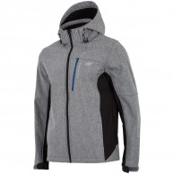 4F Buddy, softshell jacket, men, grey