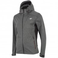 4F Brady, softshell jacket, men, grey