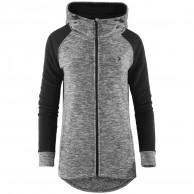 Outhorn Warmy Duo Hoodie, long fleece jacket, women, grey