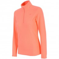4F Thora Microtherm womens fleece midlayer, coral
