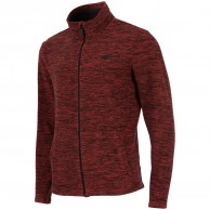 4F Monta mens fleece jacket, red melange