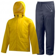 Helly Hansen Voss rain suit, mens, yellow/blue