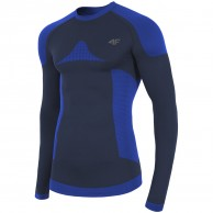 4F skiunderwear shirt, seamless, men, navy