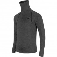 4F Quickdry ski pulli w/ high neck, grey