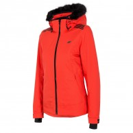 4F Diana womens ski jacket, red