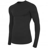 4F skiunderwear shirt, seamless, men, black