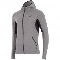 4F Warm Hoodie, fleece jacket, men, grey