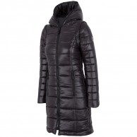 4F Liana, long down jacket women, black