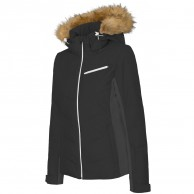 4F Marina womens ski jacket, black