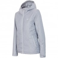 4F Britt womens ski jacket, grey