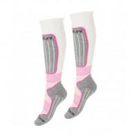 Deluni ski socks, 2 pairs, white/lilac
