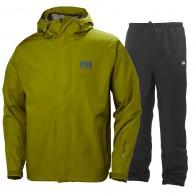 Helly Hansen Seven J set, mens Rain Suit, fir green