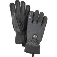 Hestra Army Leather Wool Terry ski gloves, grey/black