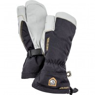 Hestra Army Leather Gore-Tex 3-finger, ski gloves, black