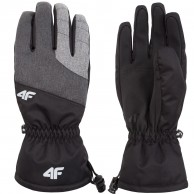4F Lothar, ski gloves, men, grey