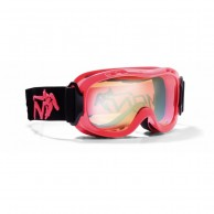 Demon Magic junior ski goggle, Red Fluo