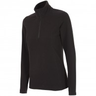 Outhorn Midela 1/4 zip fleecepulli, womens, black