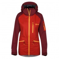 Kilpi Nalau hardshell jacket, women, red