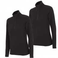 Outhorn Midela 1/4 zip fleecepulli, womens, black, 2-pack