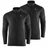 Outhorn Midelo 1/4 zip fleecepulli, mens, black2-pack