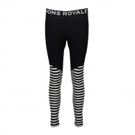Mons Royale Christy Legging, base layer, Black/Thick Stribe