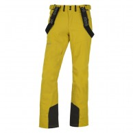 Kilpi Rhea-M soft shell ski pants, men, yellow