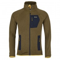 Kilpi Eris-M, fleece jacket, mens, yellow