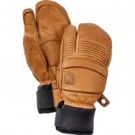 Hestra Leather Fall Line 3-finger ski gloves, kork